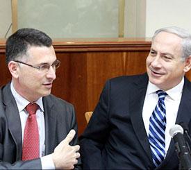 Benjamin Netanyahu with Gideon Sa'ar.. (photo credit:MARC ISRAEL SELLEM/THE JERUSALEM POST)